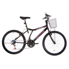 Bicicleta Houston 21 Marchas Aro 24 Freio V-Brake Bristol Peak 2015