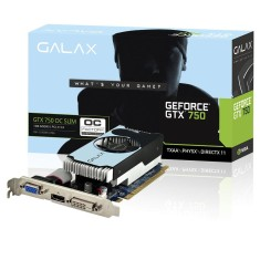 Placa de Video NVIDIA GeForce GTX 750 Ti 1 GB GDDR5 128 Bits Galax 75IGH8HX9KXV