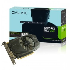 Placa de Video NVIDIA GeForce GTX 950 2 GB GDDR5 128 Bits Galax 95NPH8DHG5OC