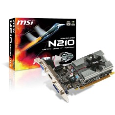 Placa de Video NVIDIA GeForce 210 1 GB DDR3 64 Bits MSI N210-MD1G/D3