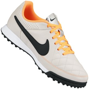 Chuteira Society Nike Tiempo Gênio Leather TF Infantil