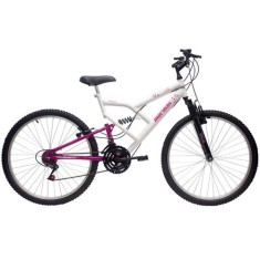 Bicicleta Mormaii 18 Marchas Aro 26 Suspensão Full Suspension Freio V-Brake Fantasy