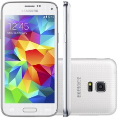 Smartphone Samsung Galaxy S5 Mini Duos 16GB G800H 8,0 MP 2 Chips Android 4.4 (Kit Kat) 3G Wi-Fi