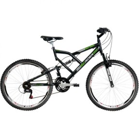 Bicicleta Mountain Bike Mormaii 24 Marchas Aro 26 Suspensão Full Suspension Freio V-Brake Big Rider