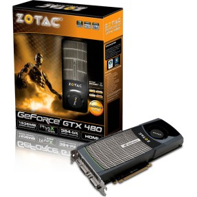 Placa de Video NVIDIA GeForce GTX 480 1,5 GB GDDR5 384 Bits Zotac ZT-40101-10P