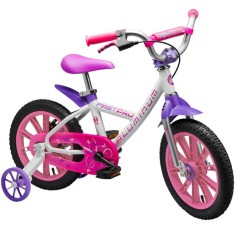 Bicicleta Nathor Aro 14 Freio a Disco First Pro Girl Aluminum