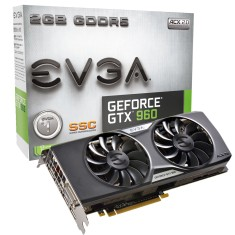 Placa de Video NVIDIA GeForce GTX 960 2 GB GDDR5 128 Bits EVGA 02G-P4-2966-KR