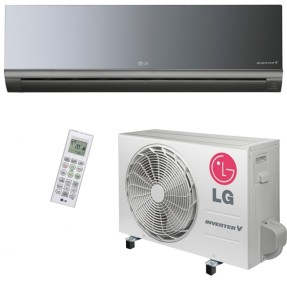Ar Condicionado Split Hi Wall LG Libero Art Cool 12000 BTUs Inverter Controle Remoto Frio AS-Q122BRZ0