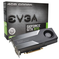 Placa de Video NVIDIA GeForce GTX 970 4 GB GDDR5 256 Bits EVGA 04G-P4-1970-KR