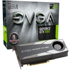 Placa de Video NVIDIA GeForce GTX 1060 3 GB GDDR5 192 Bits EVGA 03G-P4-5160-KR