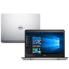 "Notebook Dell Inspiron 5000 Intel Core i7 5500U 5ª Geração 8GB de RAM HD 1 TB Híbrido SSD 8 GB 14"" Radeon HD R7 M265 Windows 10 i14 5448-C25"