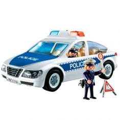 Boneco Playmobil City Action Carro de Policia - Sunny