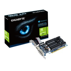 Placa de Video NVIDIA GeForce GT 610 1 GB DDR3 64 Bits Gigabyte GV-N610-1GI