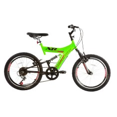 Bicicleta Mountain Bike Track & Bikes 6 Marchas Aro 20 Suspensão Full Suspension Freio V-Brake XR 20 Full
