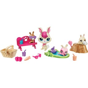 Boneca Littlest Pet Shop Movimentos Mágico Bunnies Hasbro