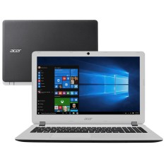 "Notebook Acer Aspire ES Intel Core i3 6100U 4GB de RAM HD 1 TB 15,6"" Windows 10 ES1-572-37EP"