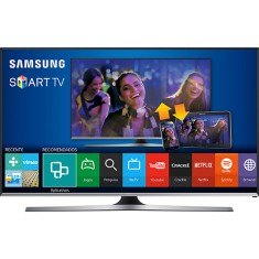 "Smart TV TV LED 50"" Samsung Série 5 Full HD Netflix UN50J5500 3 HDMI"