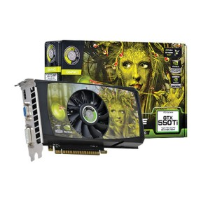 Placa de Video NVIDIA GeForce GTX 550 Ti 1 GB GDDR5 128 Bits Point Of View VGA-550-A3-1024-C