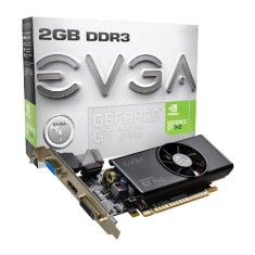 Placa de Video NVIDIA GeForce GT 740 2 GB DDR3 128 Bits EVGA 02G-P4-2740-KR