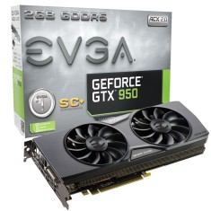 Placa de Video NVIDIA GeForce GTX 950 2 GB GDDR5 128 Bits EVGA 02G-P4-2956-KR