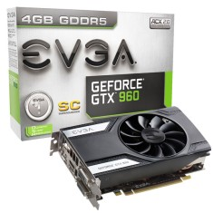 Placa de Video NVIDIA GeForce GTX 960 4 GB GDDR5 128 Bits EVGA 04G-P4-1962-KR