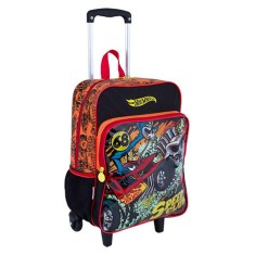 Mochila com Rodinhas Escolar Sestini Hot Wheels Hot Wheels 17M Plus G 64699