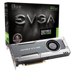 Placa de Video NVIDIA GeForce GTX 1080 8 GB GDDR5X 256 Bits EVGA 08G-P4-5180-KR