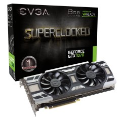 Placa de Video NVIDIA GeForce GTX 1070 8 GB GDDR5 256 Bits EVGA 08G-P4-6173-KR